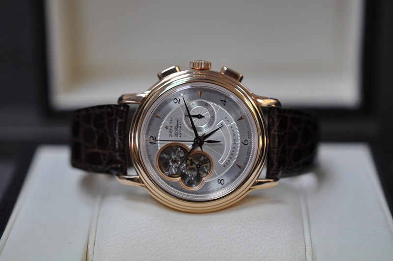 18ct rose gold Chronomaster Open Heart
