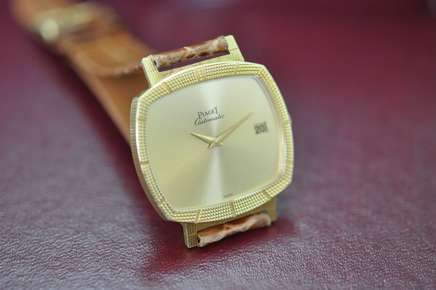 Vintage 18ct gold Piaget automatic