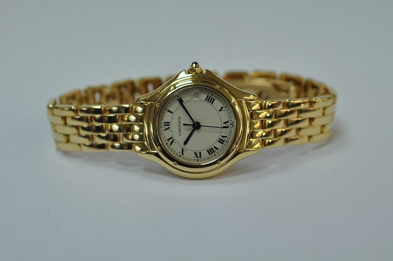 18ct gold Cartier Cougar