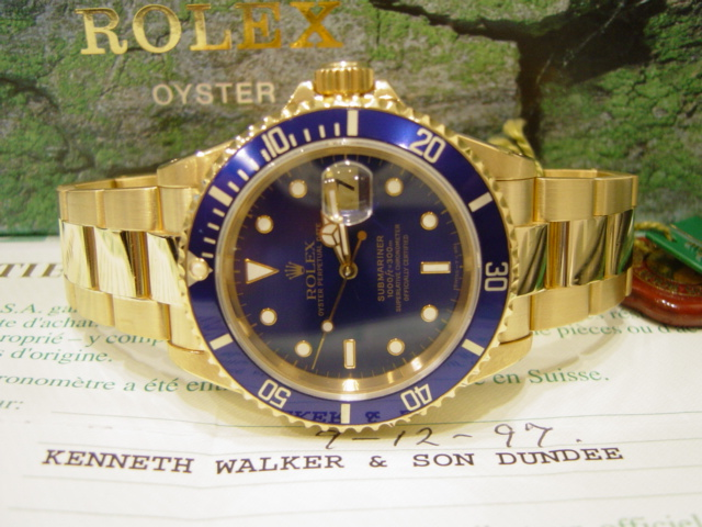 18ct Gold Submariner-Date 16618