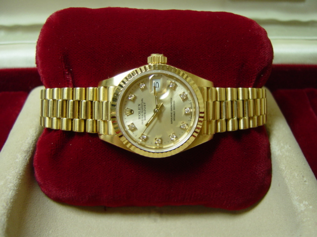 18ct Lady Datejust Silver Diamond Dial