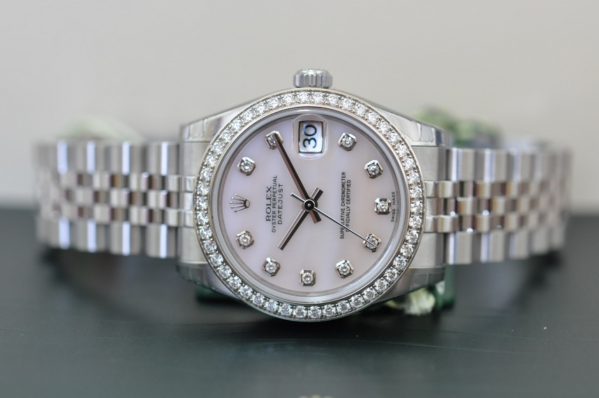 Rolex Datejust diamond bezel.