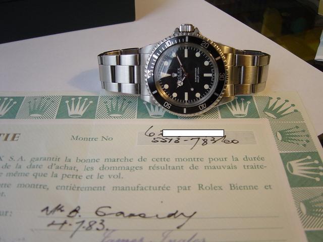 Rolex Submariner 5513/0 Maxi dial