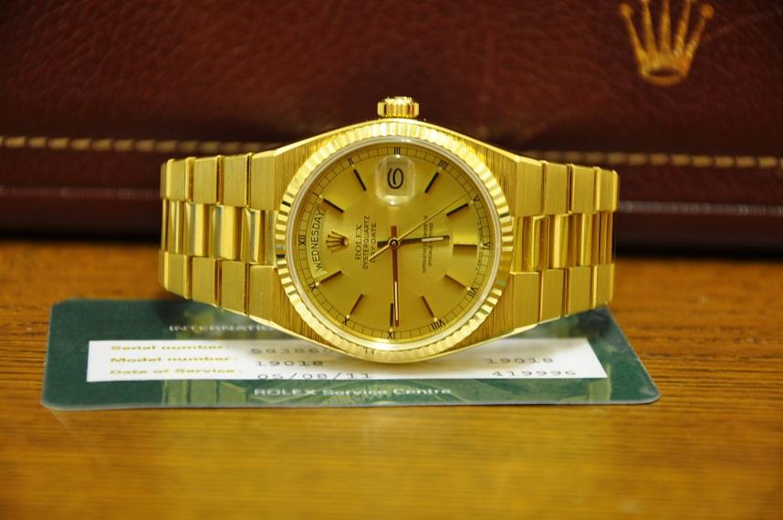 1980 Rolex Day-Date Oysterquartz 19018