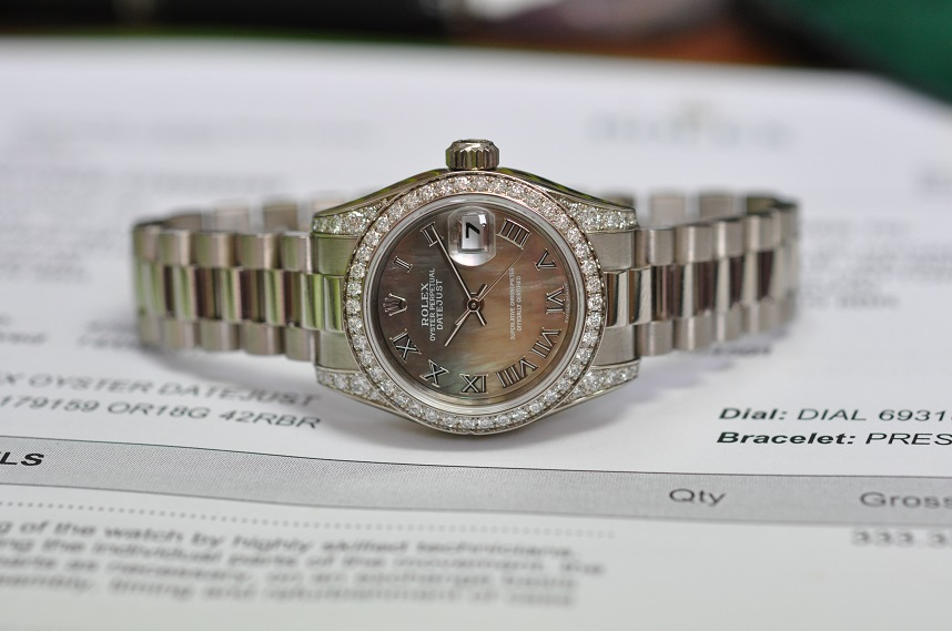 18ct White Gold Diamond set Datejust