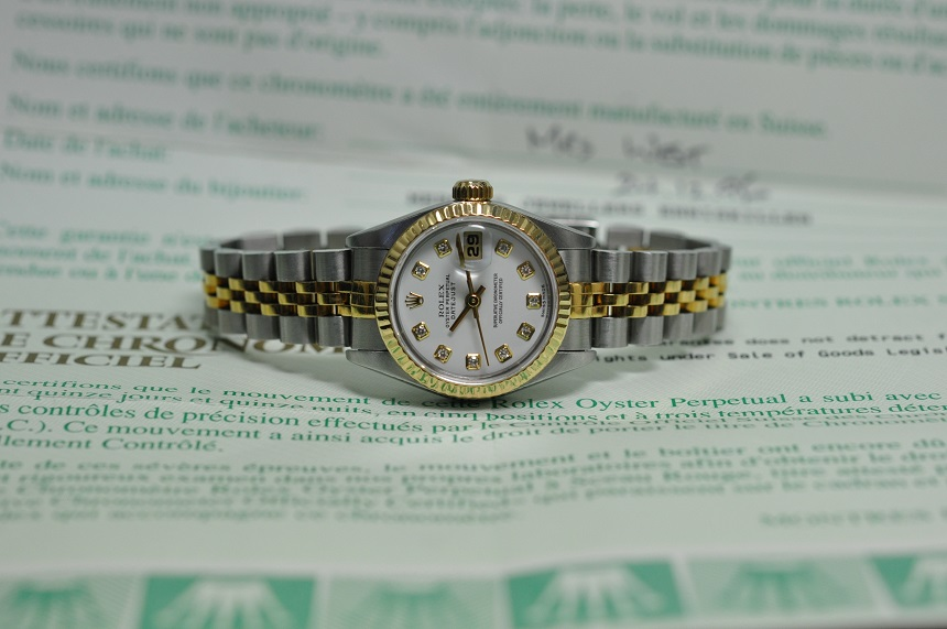 Diamond dial Datejust
