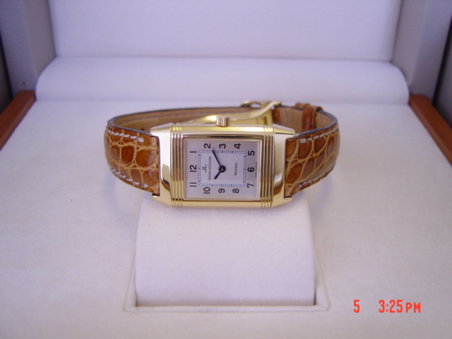 New 18ct Gold Jaeger le Coultre Reverso
