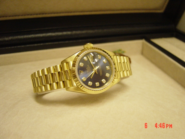 18ct Lady datejust Blue Diamond Dial 69178