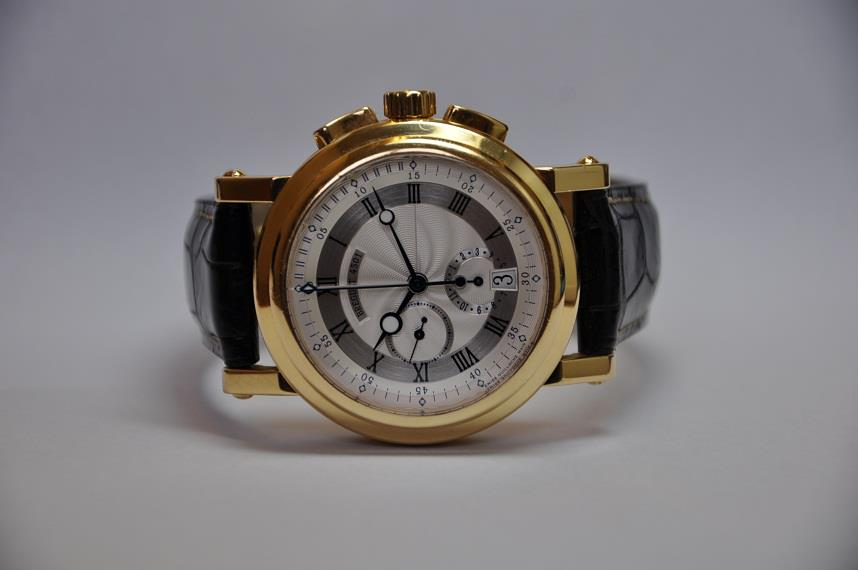 18ct Gold Marine Chronograph
