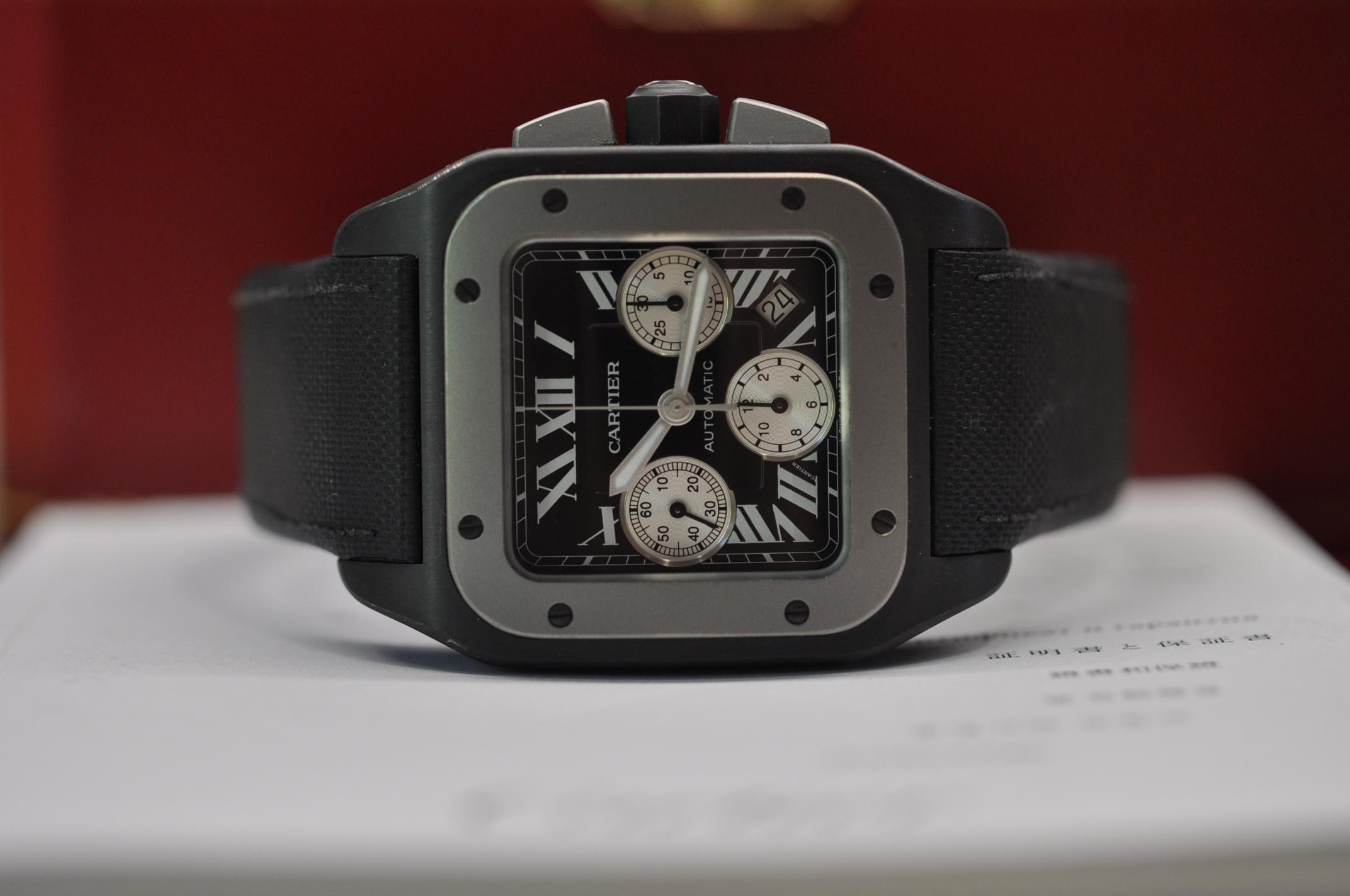 2012 Santos 100 DLC chronograph