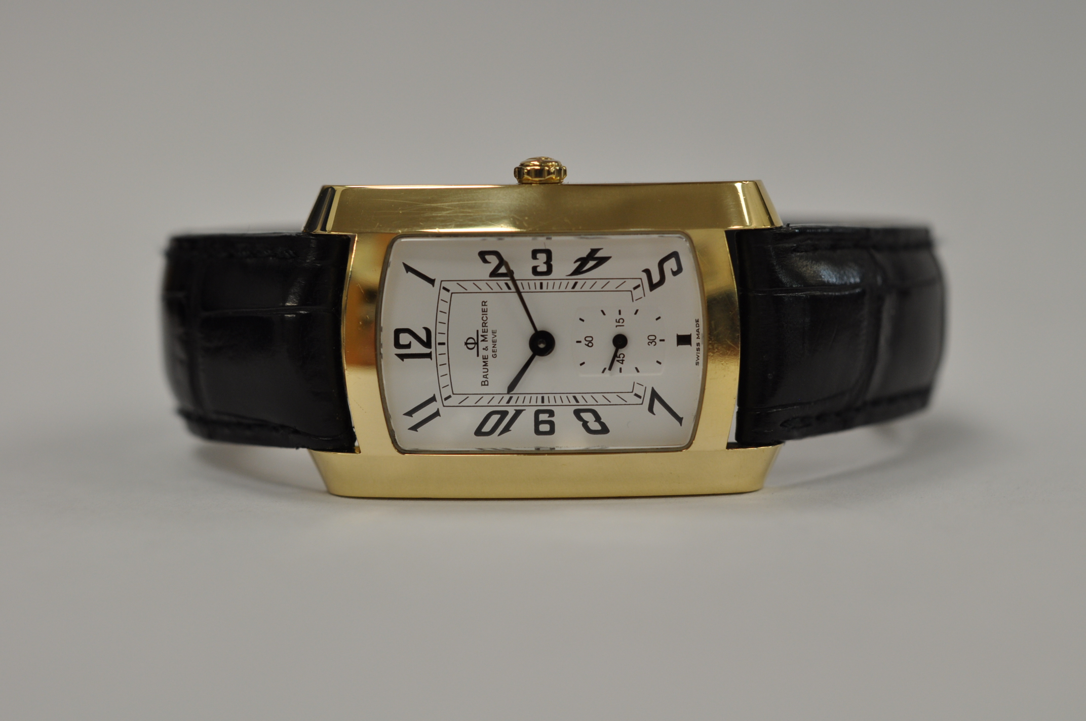 Baume Mercier Hampton Milleis 18ct gold